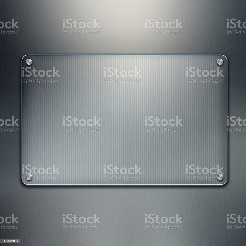 Blank glass plate background royalty-free stock photo