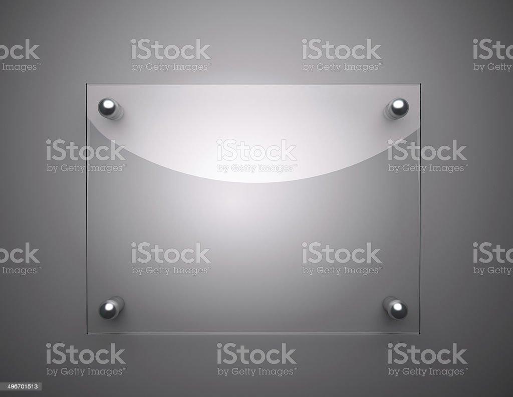 Blank Glass Plate stock photo