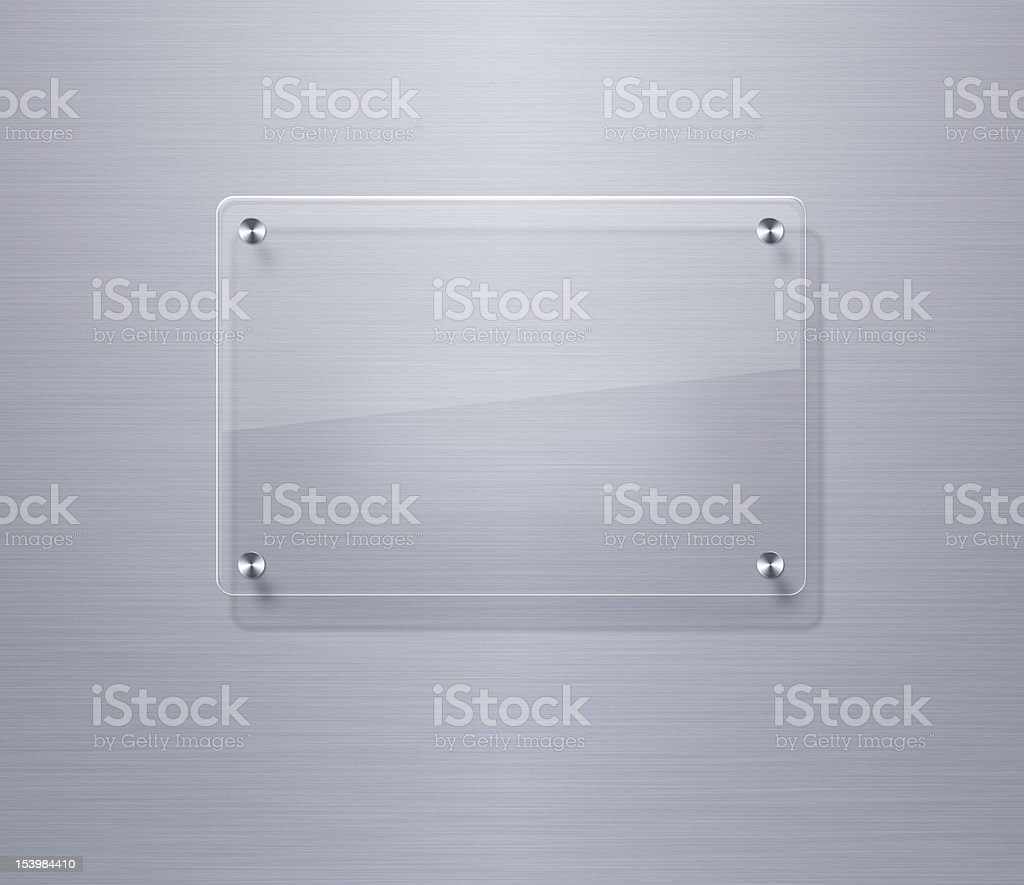 Blank glass plate with copy space stock photo