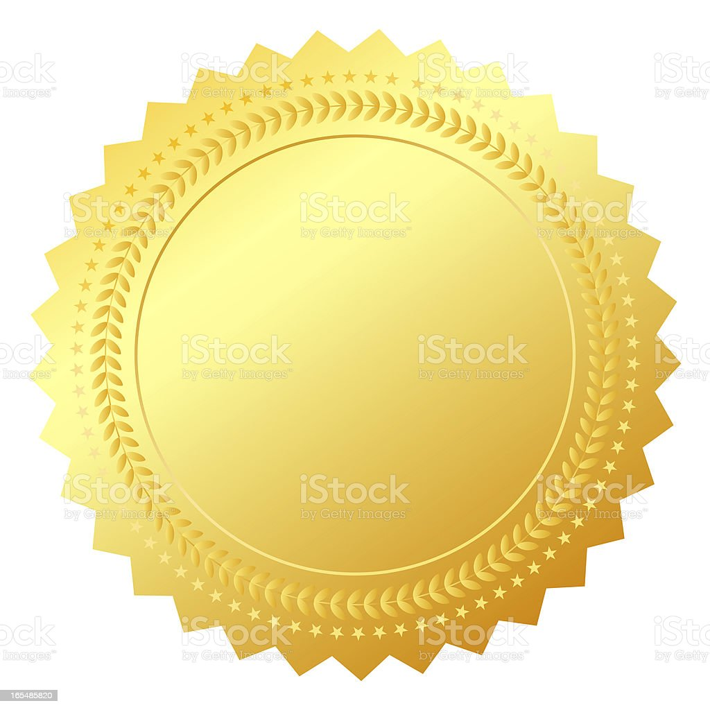 Blank gold certificate stock photo