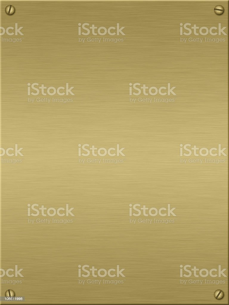Blank gold plate, template for background stock photo