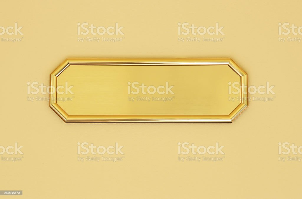 Blank golden sign royalty-free stock photo