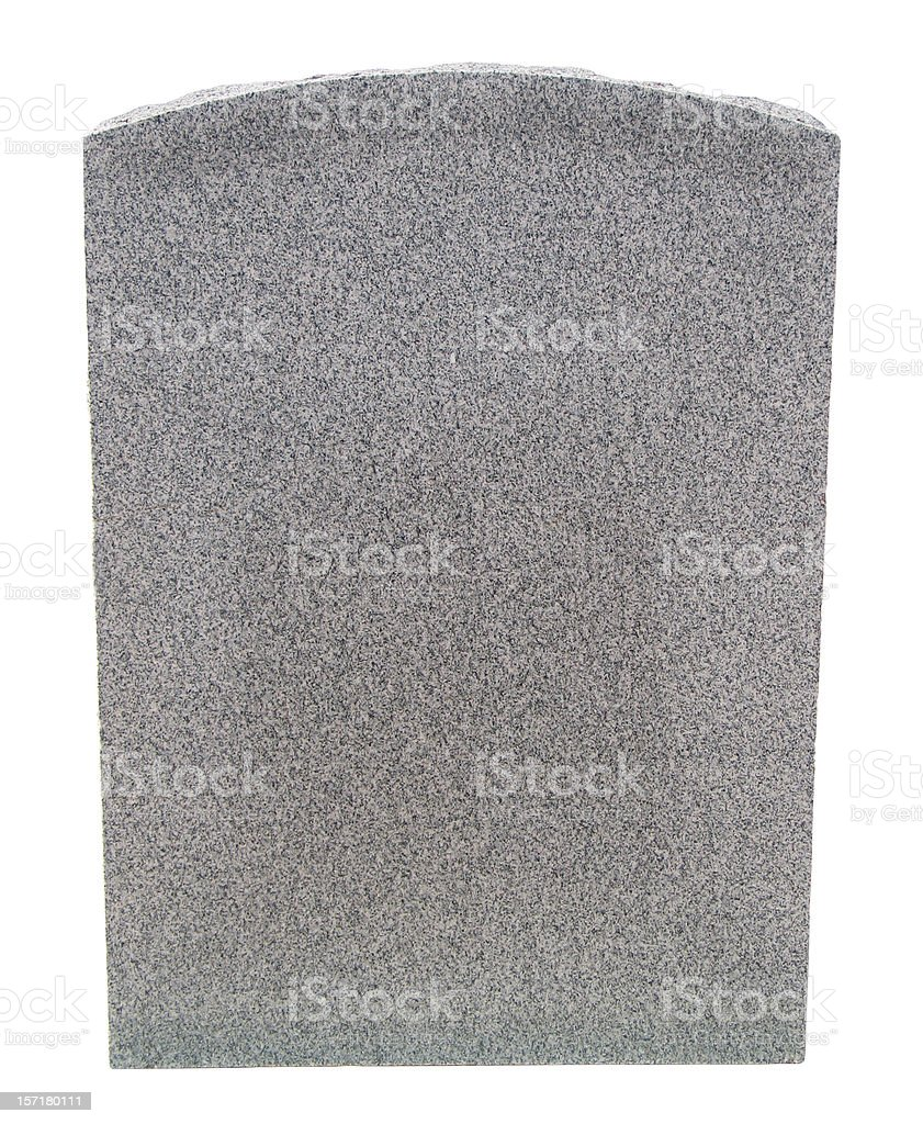 Blank Granite Tablet stock photo