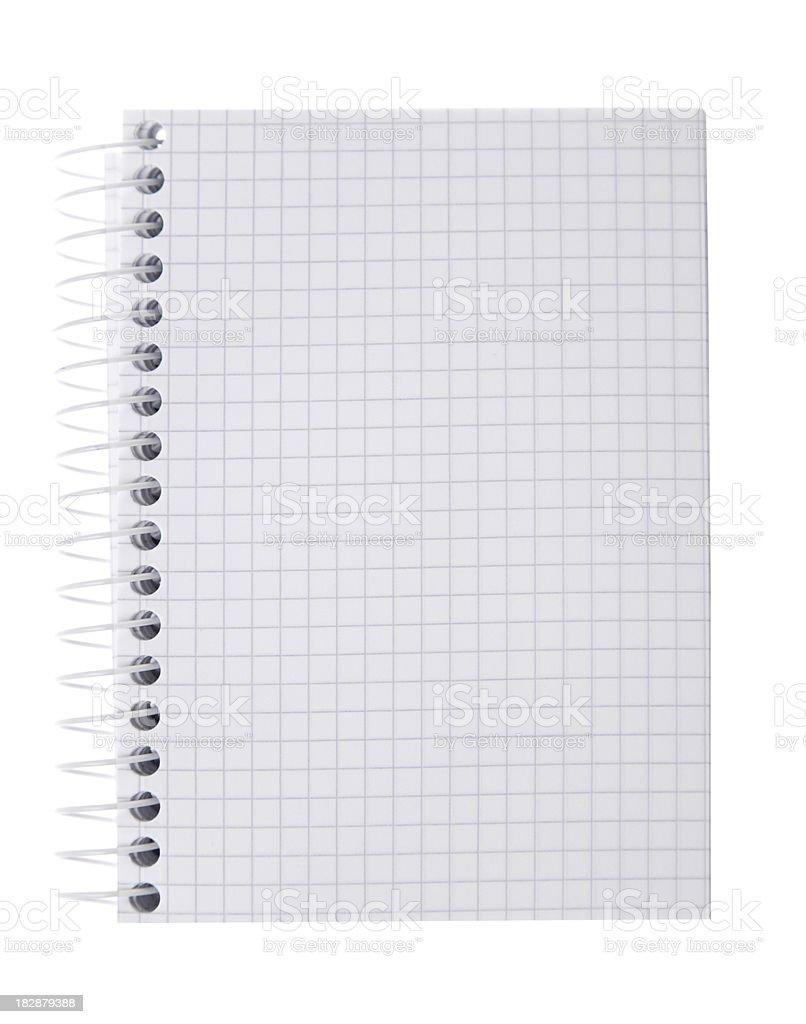 Blank graph notepad royalty-free stock photo