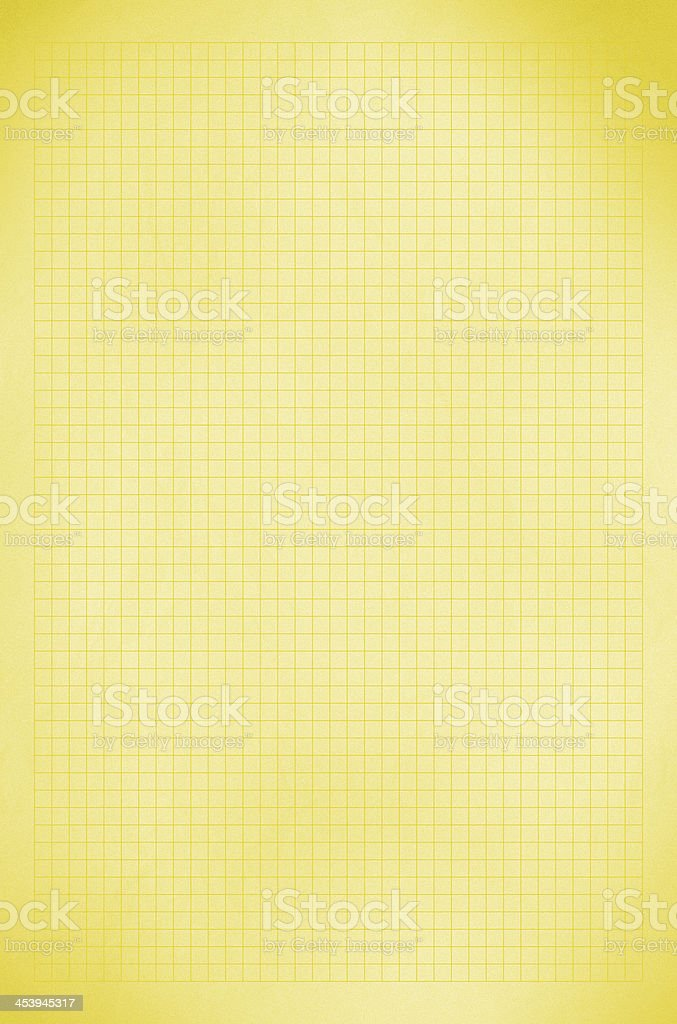 Blank graph old Yellow paper grid sheet background or textured royalty-free stock photo