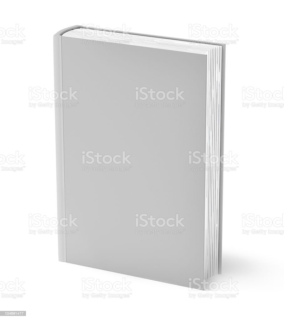 Blank gray book. Clear cover royalty-free stock photo
