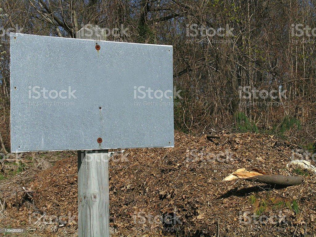Blank Gray Sign stock photo