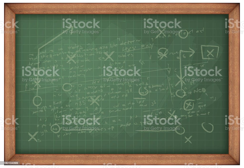 Blank Green Board with Scribble royalty-free stock photo