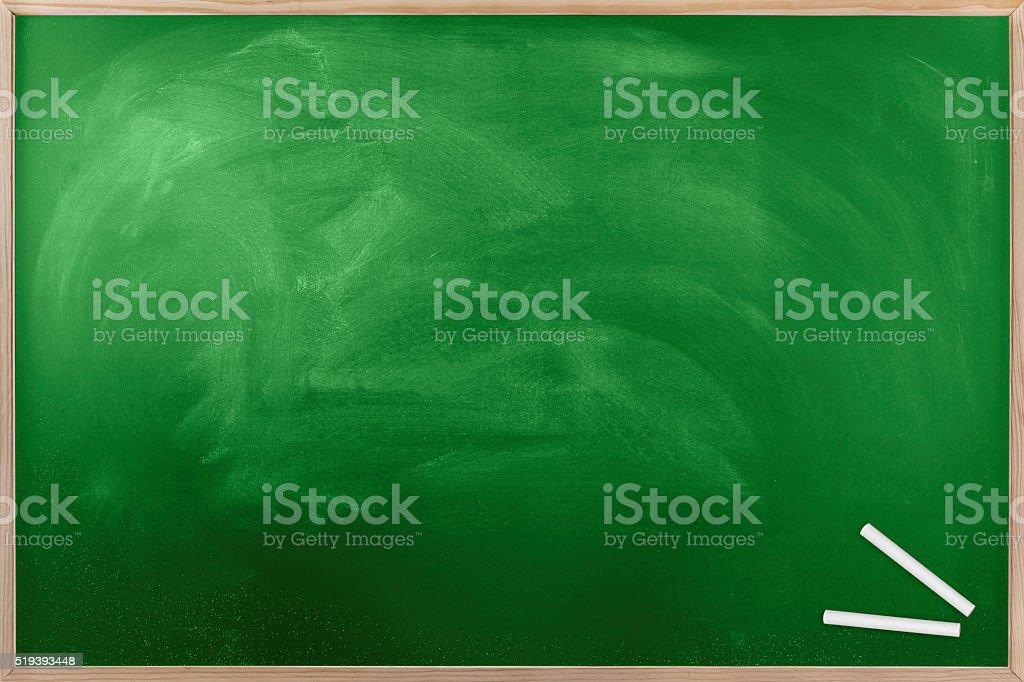 Blank Green Chalkboard stock photo