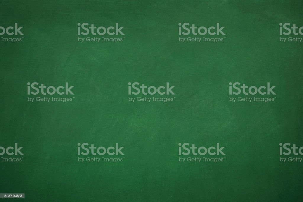 Blank Green Chalkboard stock photo