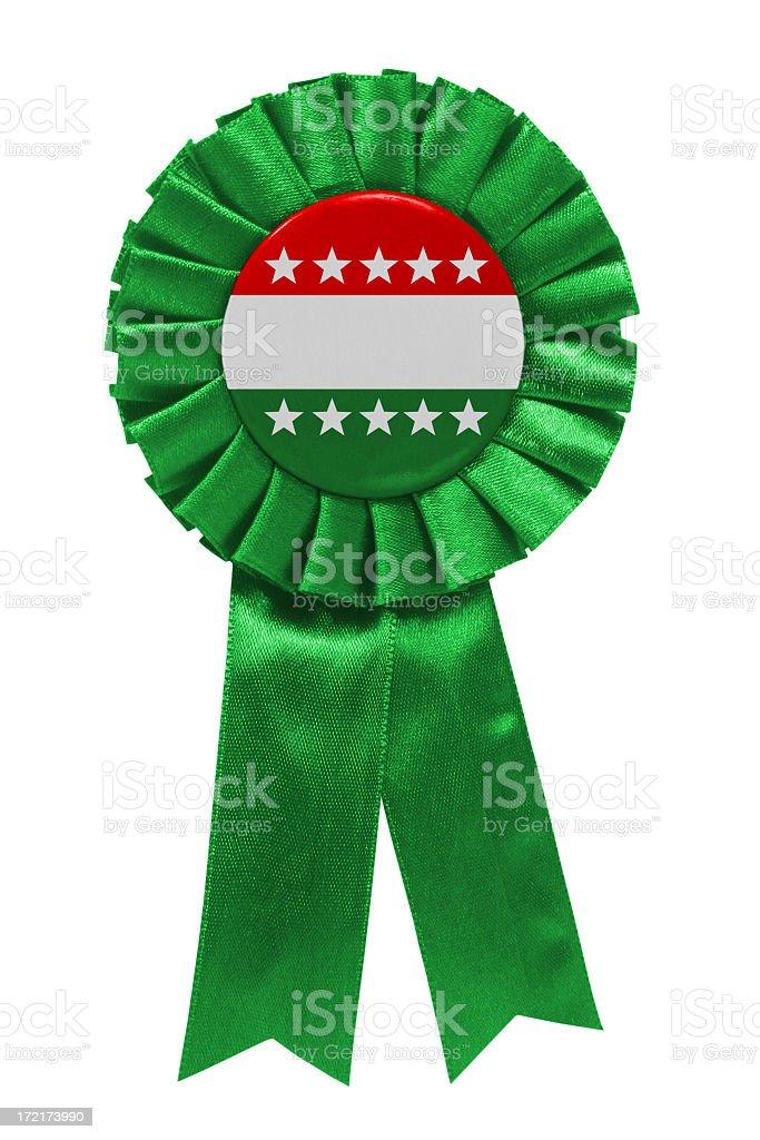 Blank green party ribbon stock photo