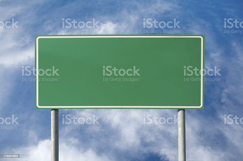 blank green traffic sign stock photo