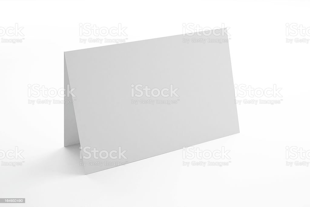 Blank Greeting Card royalty-free stock photo