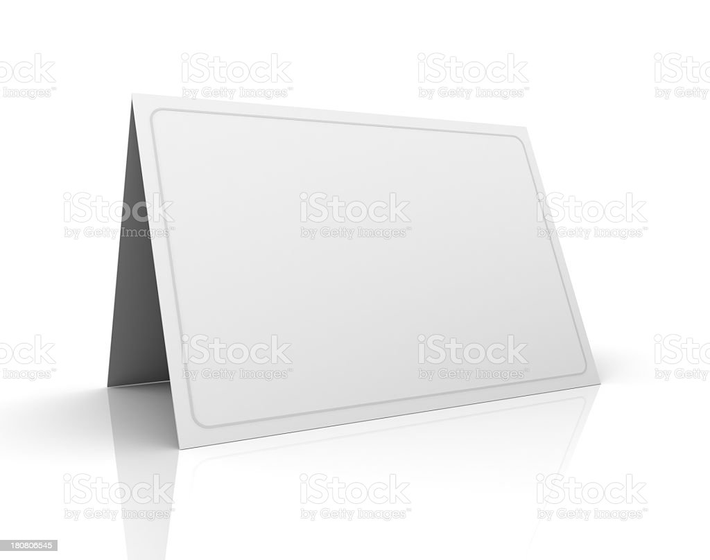 Blank greeting card royalty-free stock photo
