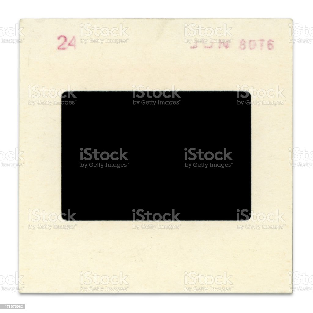 Blank, Grungy Slide (high resolution) stock photo