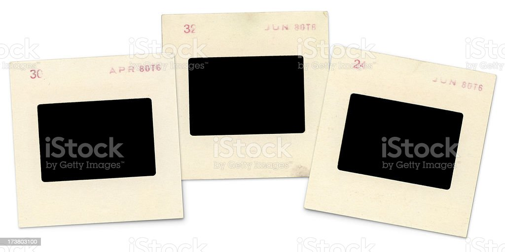 Blank, Grungy Slides (high resolution) stock photo