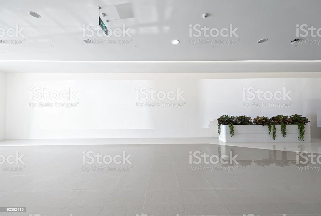 Blank hall stock photo