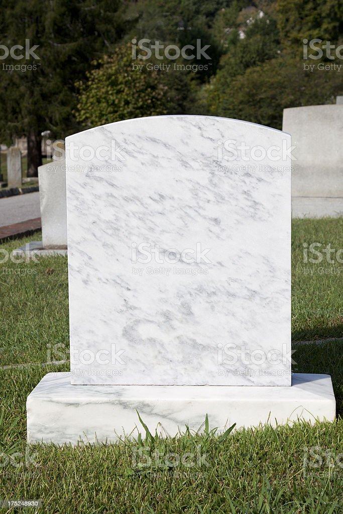 Blank Headstone royalty-free stock photo