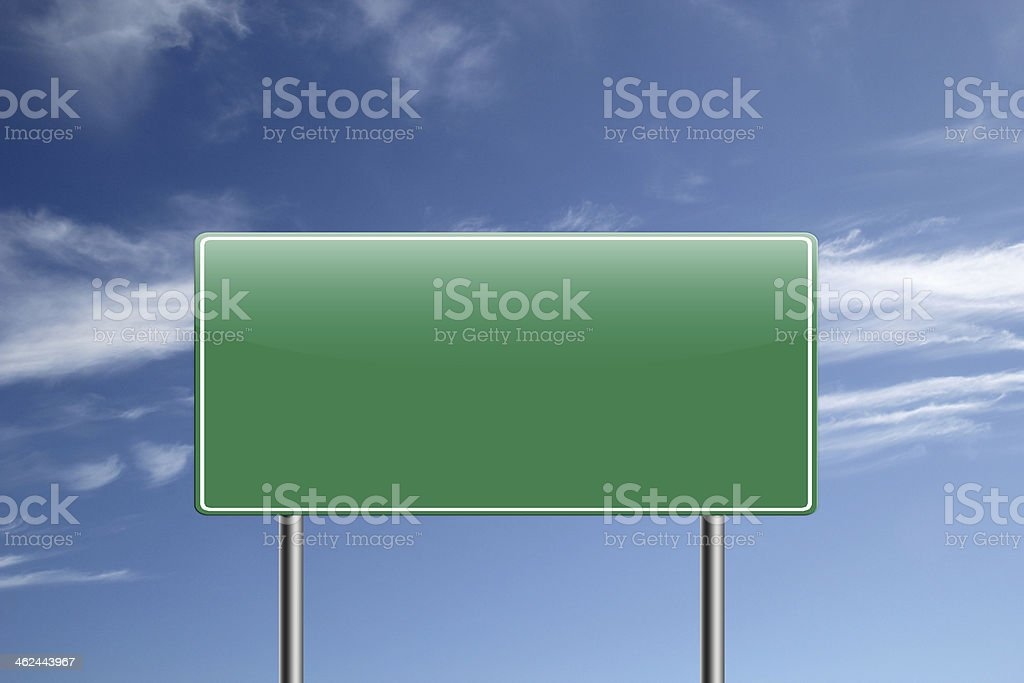 Blank Highway road sign. royalty-free stock photo