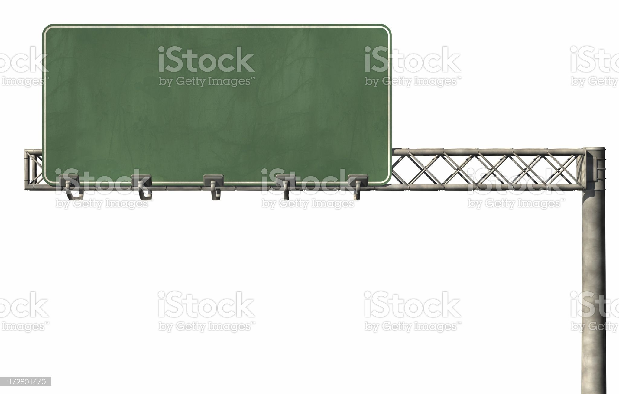 Blank Highway Sign 02 royalty-free stock photo