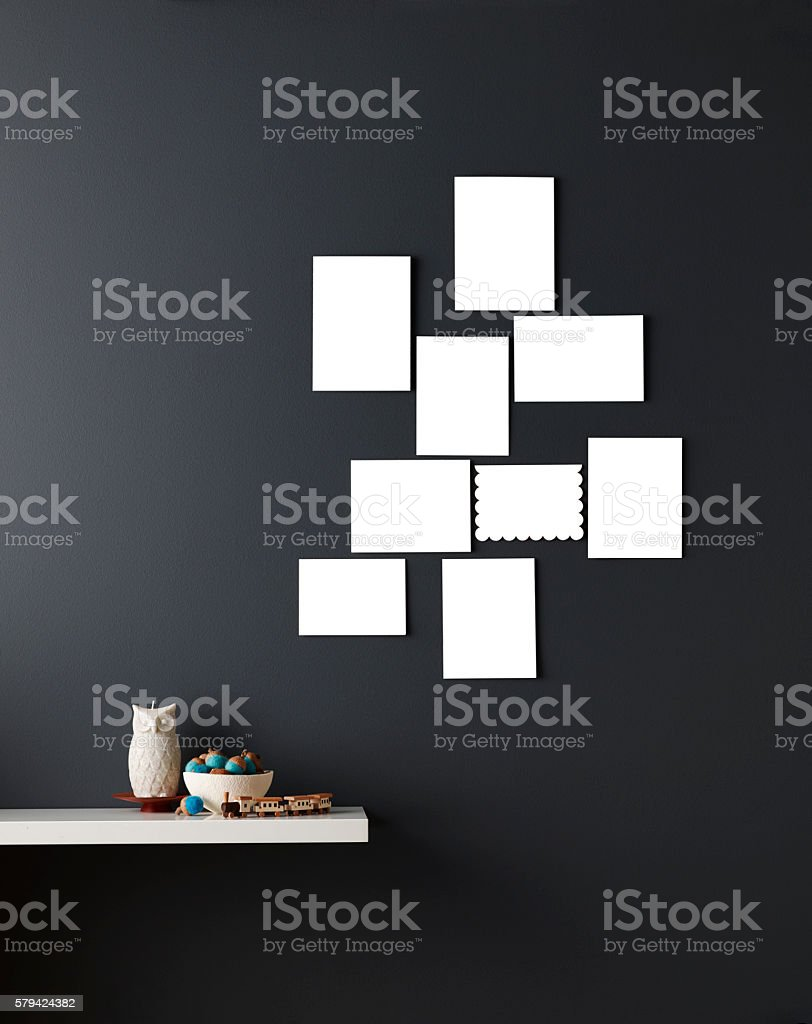 Blank Holiday Cards stock photo