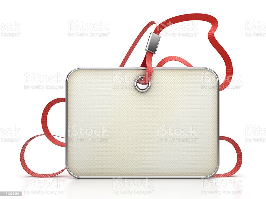 Blank identity card stock photo