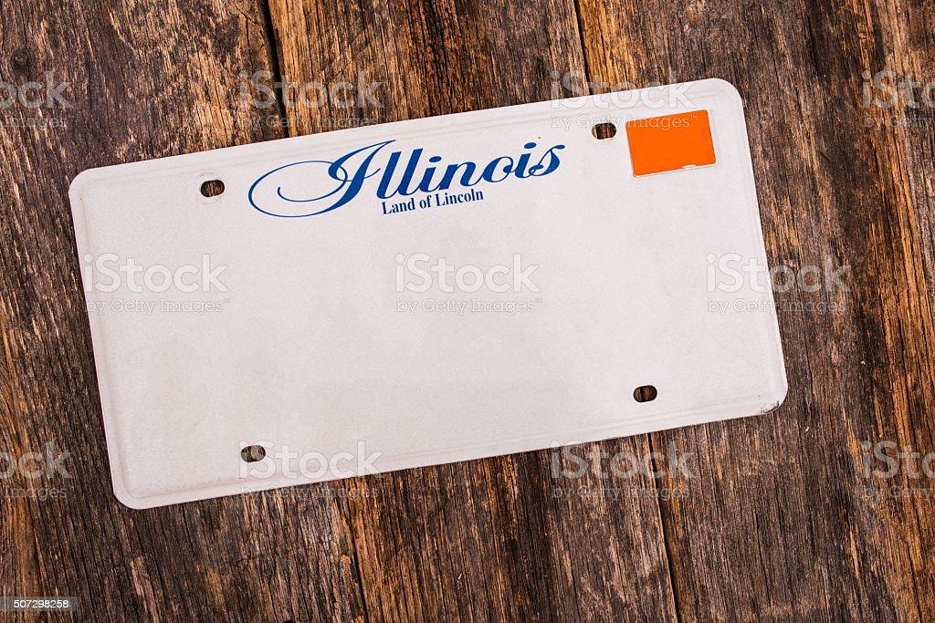 Blank Illinois License Plate stock photo