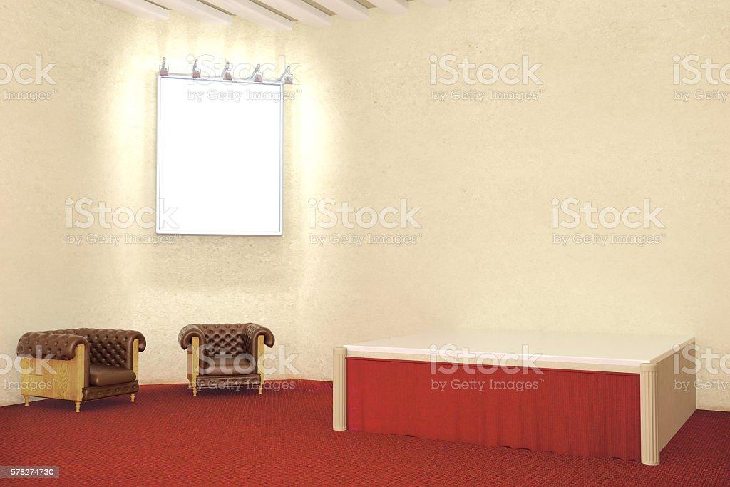 Blank illuminated frame stock photo
