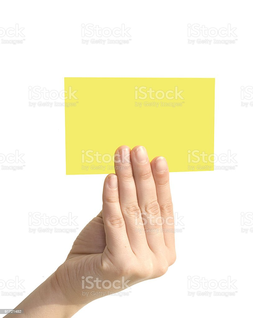blank in a hand royalty-free stock photo