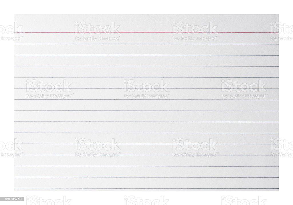 Blank index card stock photo