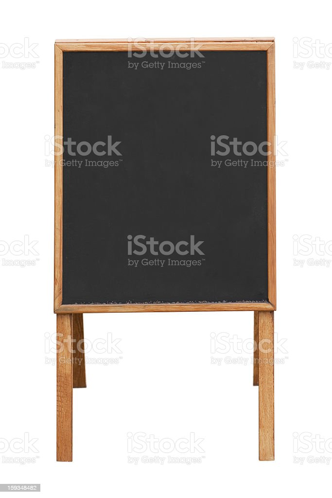 Blank information board royalty-free stock photo