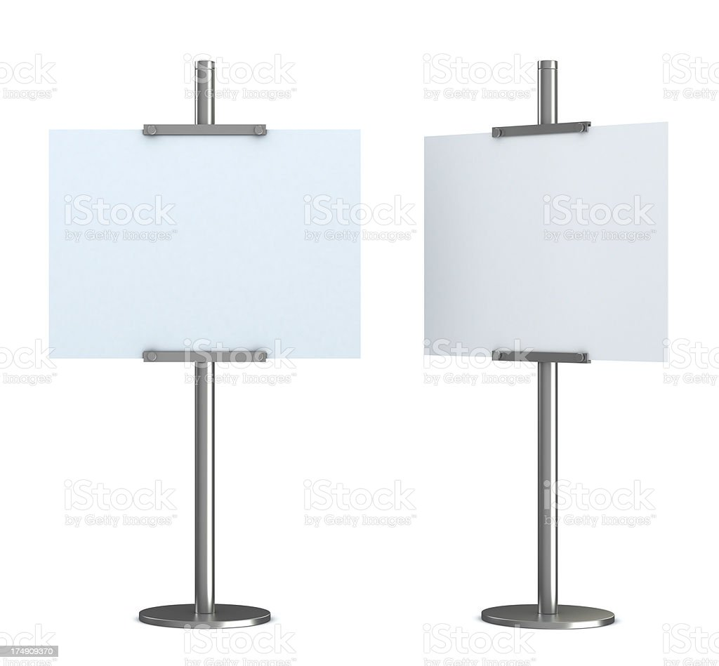 blank information stand royalty-free stock photo