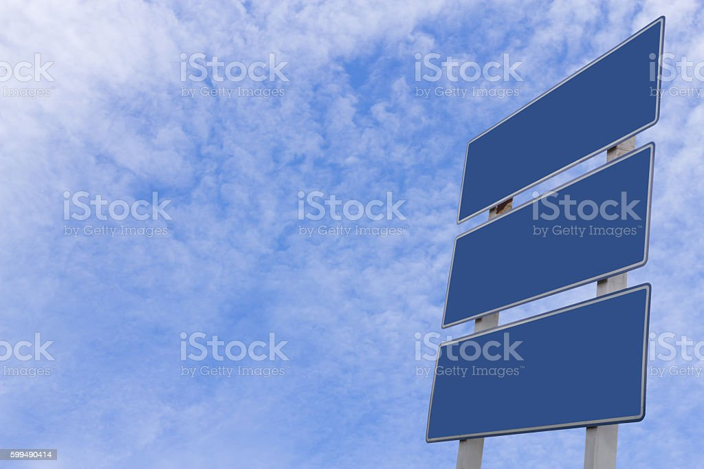 Blank informational traffic sign stock photo