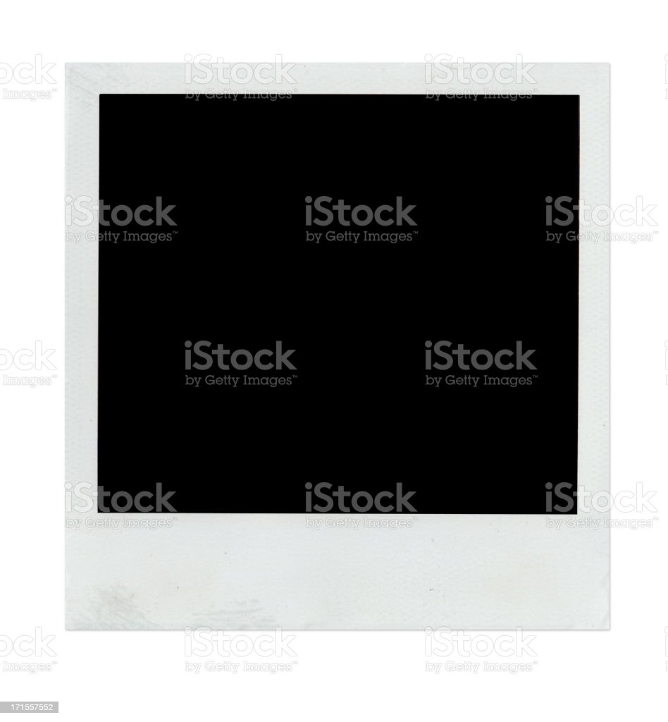 A blank, instant camera photograph on a white background royalty-free stock photo
