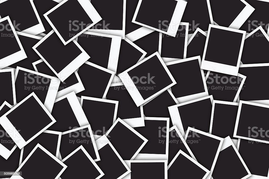 Blank instant photo frames background stock photo