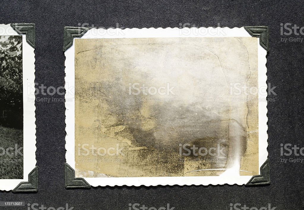 Blank instant photo stock photo