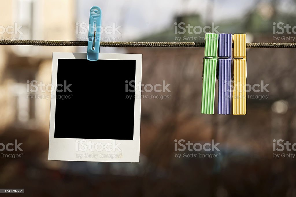 Blank instant photo royalty-free stock photo