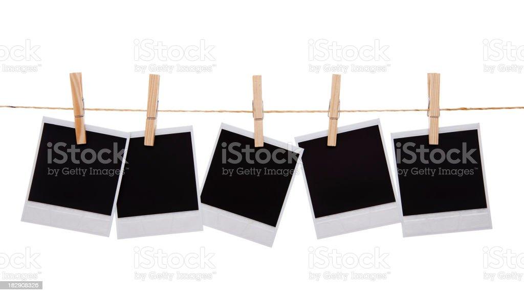 Blank instant photo prints stock photo