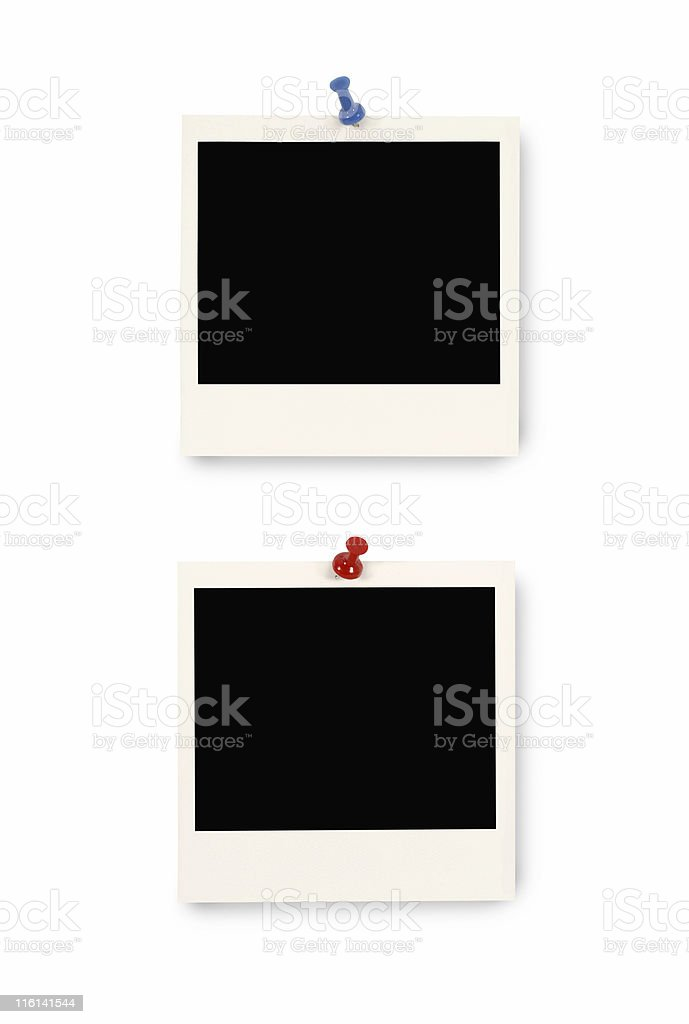 Blank instant picture prints royalty-free stock photo