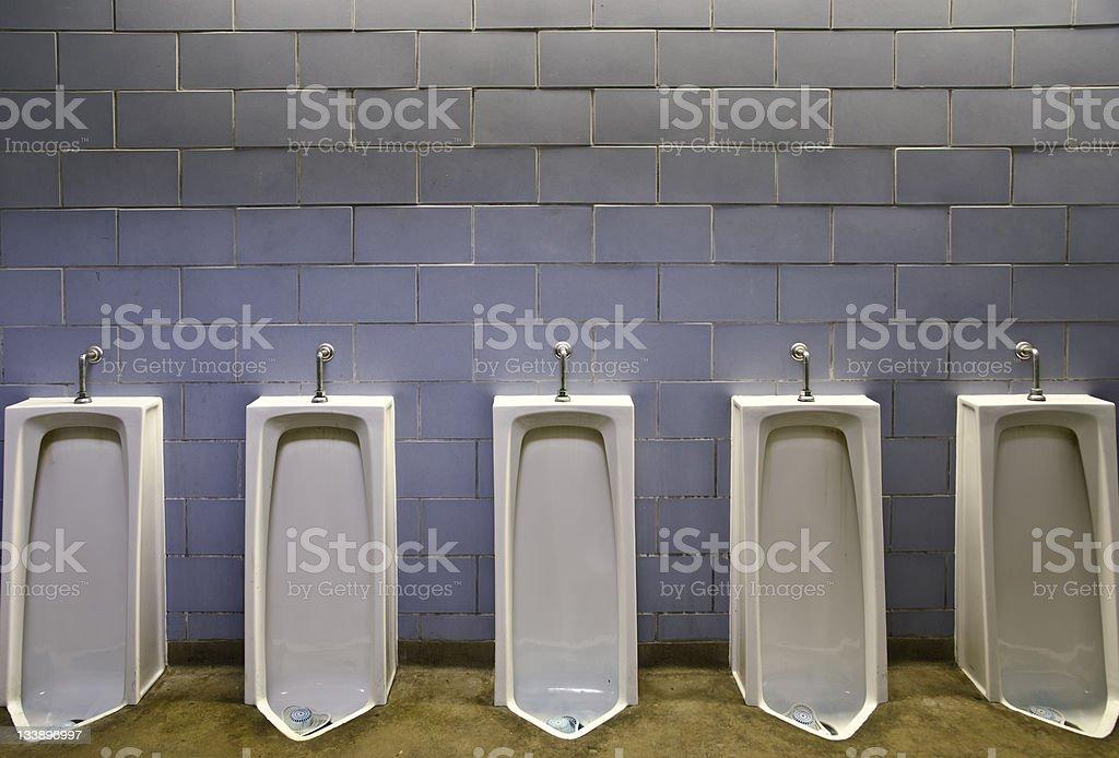 Blank interior wall mens washroom royalty-free stock photo