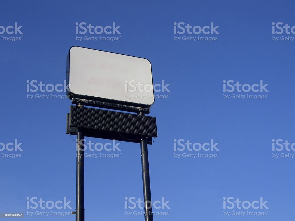 Blank Interstate Advertising Sign stock photo