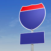Blank Interstate Sign with clipping path