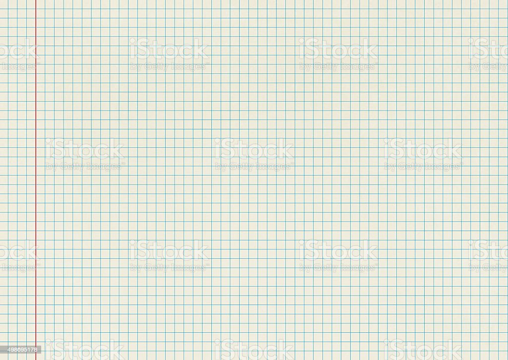 Blank isolated Graph Paper stock photo
