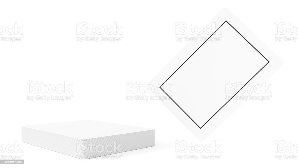 Blank Isolated Playing Cards stock photo