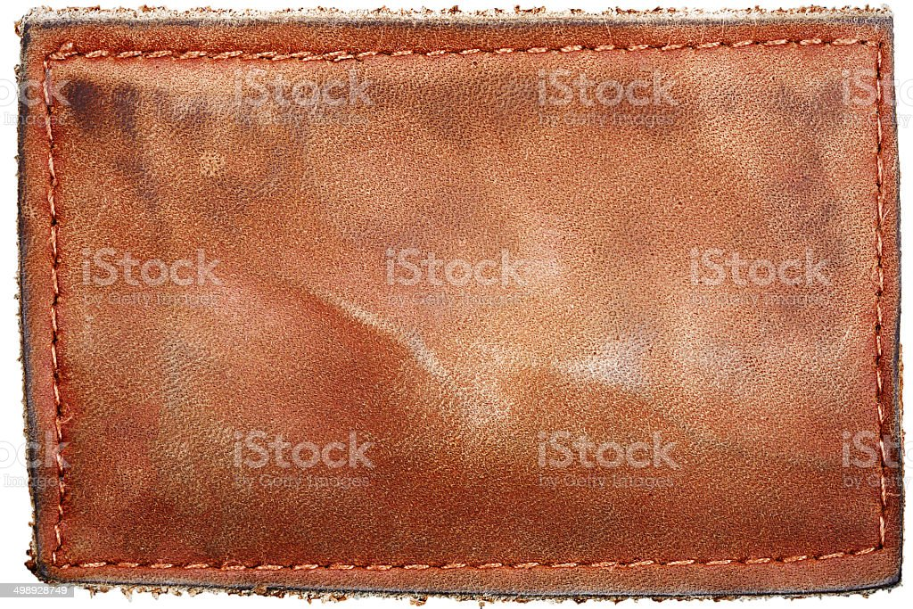 Blank jeans label stock photo