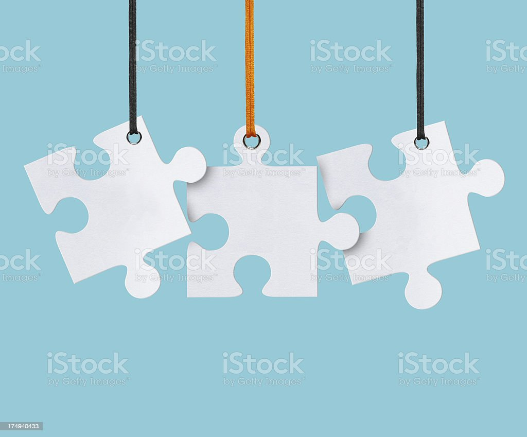 Blank, Jigsaw Puzzle (Clipping Path) royalty-free stock photo