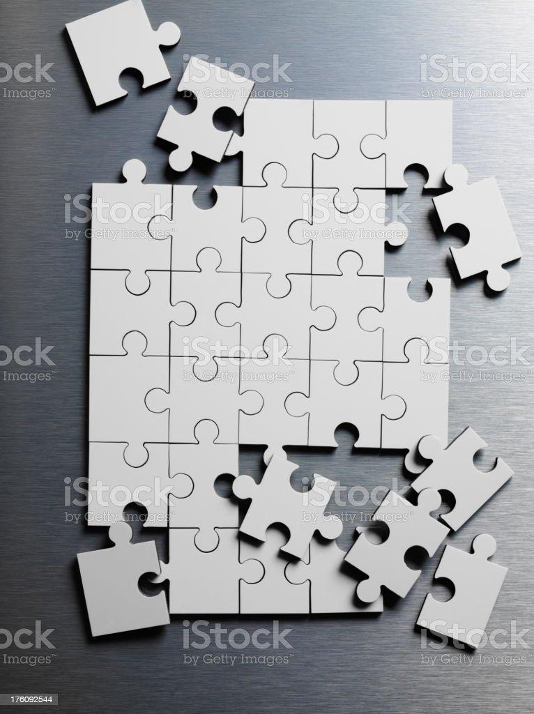 Blank Jigsaw Puzzle stock photo