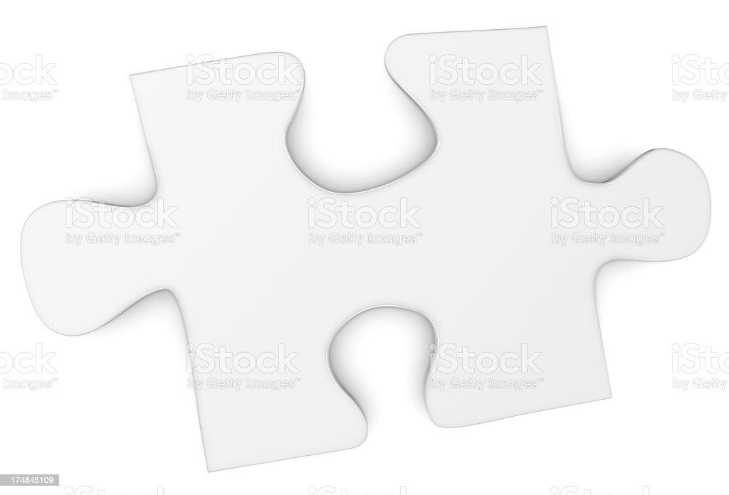 Blank jigsaw puzzle piece royalty-free stock photo