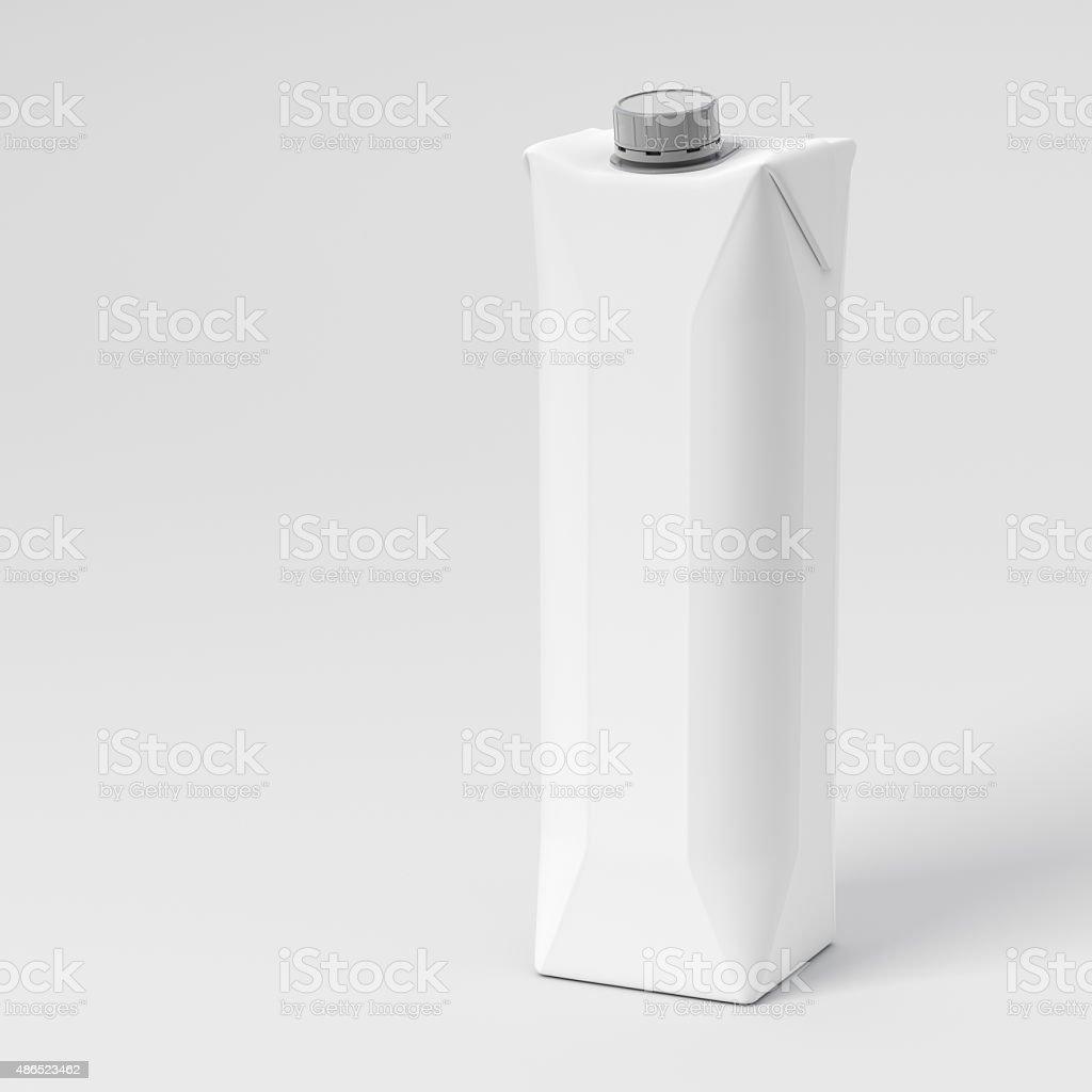 Blank Juice Box stock photo