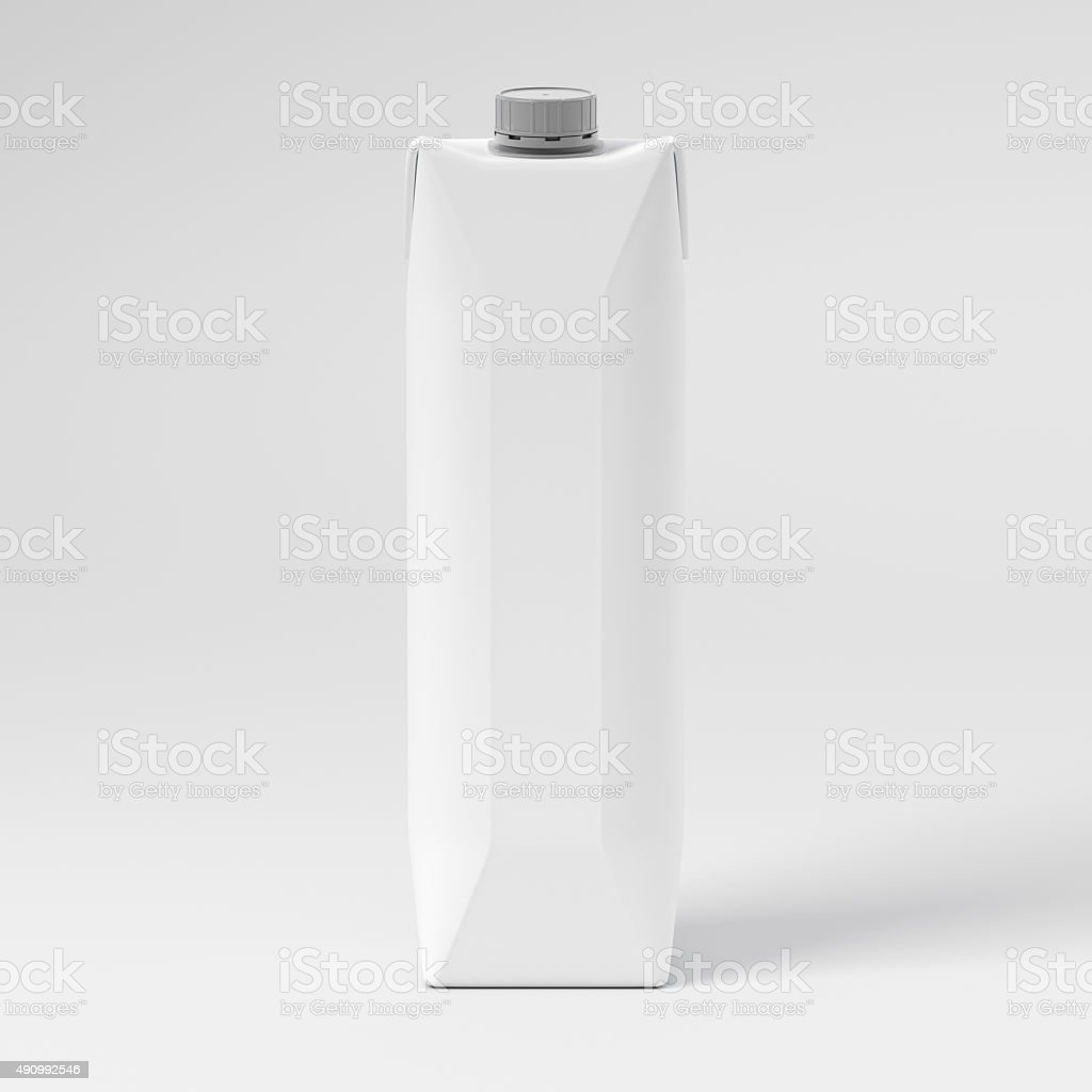 Blank Juice Box stock photo